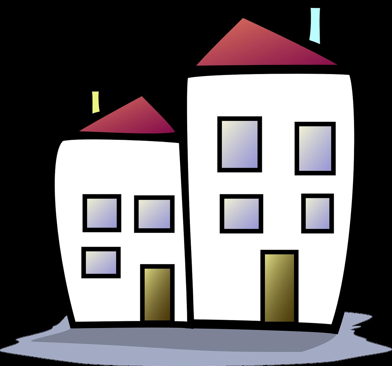 ציור של בניינים